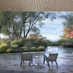 Casa Davis, Juan Grimm landscape artist: Jardines de estilo  por Light Syndrome, Asiático