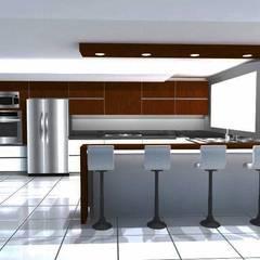 Diseño y Modelado 3D Cocina bello monte ccs: Cocinas de estilo  por arqyosephlopez,