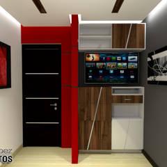 Diseño de Oficina Urb. La Arboleda: Oficinas de estilo  por arqyosephlopez