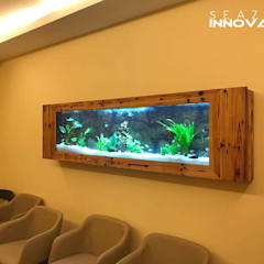 Wood art adds a rustic, crafty element to your wall :  Bars & clubs by Seazone Innovative Sdn Bhd