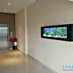 Welcome your guests with the stunning wall mounted aquarium:  Office buildings by Seazone Innovative Sdn Bhd