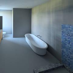 House Mthombeni:  Bathroom by Müller Architecture SA, Minimalist