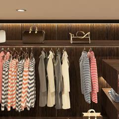 WALK-IN CLOSET :  Bedroom by Linken Designs