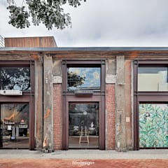 Oficinas y Tiendas de estilo  por 森畊空間設計