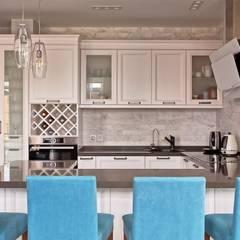 Дизайн-проект квартиры 132 кв.м. Москва, ул. Большая Черкизовская 142: Встроенные кухни в . Автор – Владимир Чиченков