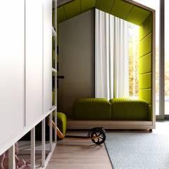 Дизайн-проект прекрасного дома 257 кв.м в экологическом стиле. Подмосковье: Детские спальни в . Автор – Владимир Чиченков