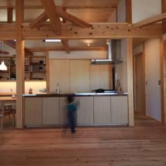 高床の家: 田村建築設計工房が手掛けたキッチン収納です。