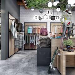 VERO CONCEPT MİMARLIK – Akçakaya Tekstil Showroom-Outlet:  tarz Ofisler ve Mağazalar