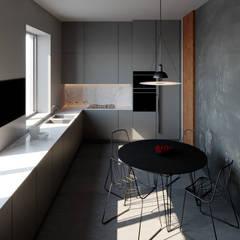 Rendering Cucina: Cucina attrezzata in stile  di Arabella Rocca Architettura e Design