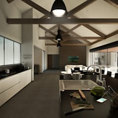Casa Y+P: Cocinas equipadas de estilo  por Grupo PAAR Arquitectos