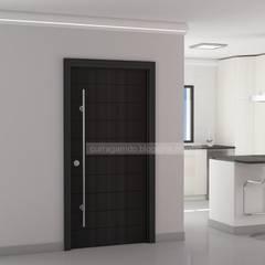 Puertas de madera de estilo  por Curra Garrido
