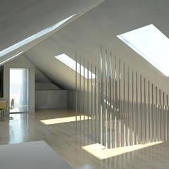 Remodelação de Escritórios: Escritórios e Espaços de trabalho  por darq - arquitectura, design, 3D