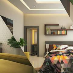 اتاق خواب by Monnaie Interiors Pvt Ltd