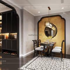 XU HƯỚNG ĐÔNG DƯƠNG ẤN TƯỢNG - Thiết kế căn hộ Vinhomes Golden River:  Phòng ăn by ICON INTERIOR