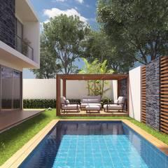 Projekty,  Basen do ogrodu zaprojektowane przez Eutopia Arquitectura