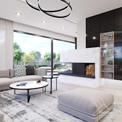 Salon moderne par HomeKONCEPT | Projekty Domów Nowoczesnych Moderne