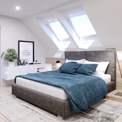 Chambre moderne par HomeKONCEPT | Projekty Domów Nowoczesnych Moderne