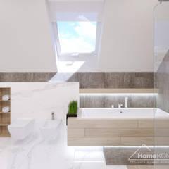 Salle de bain moderne par HomeKONCEPT | Projekty Domów Nowoczesnych Moderne