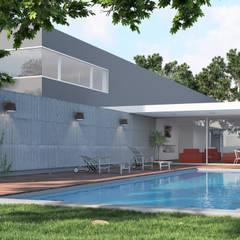 : Casas unifamiliares de estilo  por Rendering All