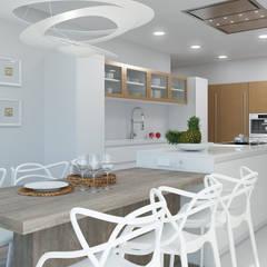 : Cocinas equipadas de estilo  por Rendering All,