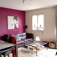 salon avant: Salon de style de style Scandinave par By Benedicte Bergot Deco