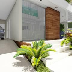 Casa Jardim Sulacap: Casas familiares  por Domingos de Arquitetura