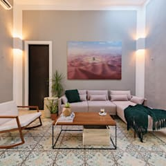 Sala: Salas de estilo colonial por Workshop, diseño y construcción