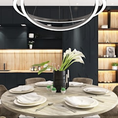 Semi Detached House—horizon hill, Johor Bahru,Malaysia:  Dining room by Enrich Artlife & Interior Design Sdn Bhd