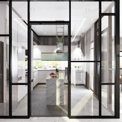 Semi Detached House—horizon hill, Johor Bahru,Malaysia:  Built-in kitchens by Enrich Artlife & Interior Design Sdn Bhd,