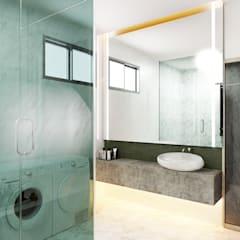 Semi Detached House—horizon hill, Johor Bahru,Malaysia:  Bathroom by Enrich Artlife & Interior Design Sdn Bhd