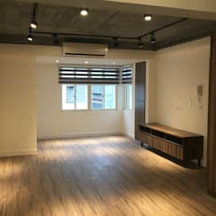 Living room by 捷士空間設計(省錢裝潢)