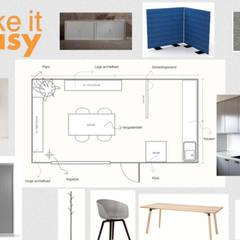 Plattegrond kantoor:  Kantoorgebouwen door Studio Room by Room