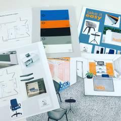 Totaal overzicht designplan kantoor:  Kantoorgebouwen door Studio Room by Room