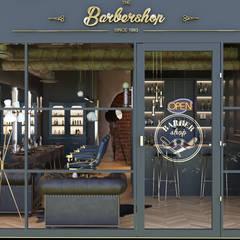 BARBERÍA VINTAGE : Espacios comerciales de estilo  de La Pecera Estudio Creativo