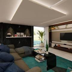 Sala: Salas de estar  por TRAIT ARQUITETURA E DESIGN