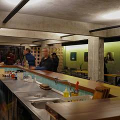Café do Centro da Terra - balcão cozinha : Bares e clubes  por Estudio Piloti Arquitetura
