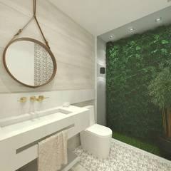 Projeto de interiores - Banheiros: Banheiros  por Vivenda Soluções Arquitetônicas