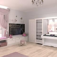 Teen bedroom by Студия интерьера 'Золотая Середина