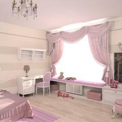 غرفة نوم مراهقين  تنفيذ Студия интерьера 'Золотая Середина