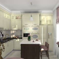 Built-in kitchens by Студия интерьера 'Золотая Середина