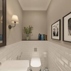 Уютный скандинавский интерьер квартиры: Ванные комнаты в . Автор – Диляра Минигулова