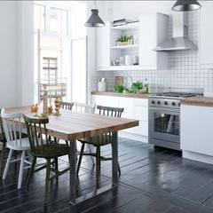 Infografía 3D diseño de interiores: Cocinas de estilo  de Delineante Infografía 3D