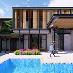 Single family home by GRID ARCHITECT THAILAND