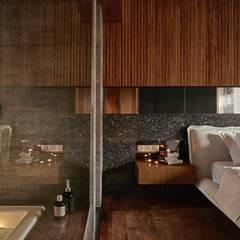 侘寂宅居:  浴室 by 大湖森林室內設計