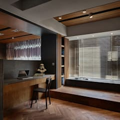 Oficinas de estilo  por 大湖森林室內設計