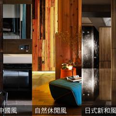 侘寂宅居:  樓梯 by 大湖森林室內設計
