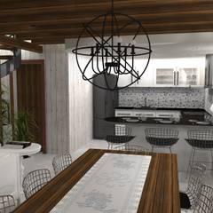 Diseño y decoracion duplex : Cocinas de estilo  por Estudio de Arquitectura MEM