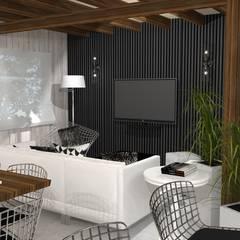 Diseño y decoracion duplex : Livings de estilo  por Estudio de Arquitectura MEM