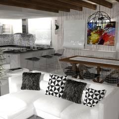 Diseño y decoracion duplex : Comedores de estilo  por Estudio de Arquitectura MEM