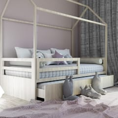 pokój dziecięcy dla dziewczynki: styl , w kategorii Pokój dla dziwczynki zaprojektowany przez MINIMAL.